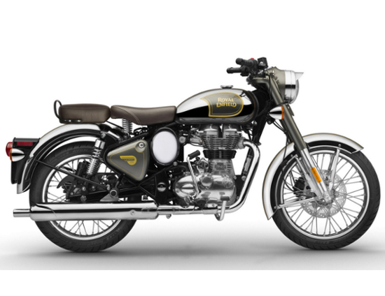 La moto Royal enfield classic chrome