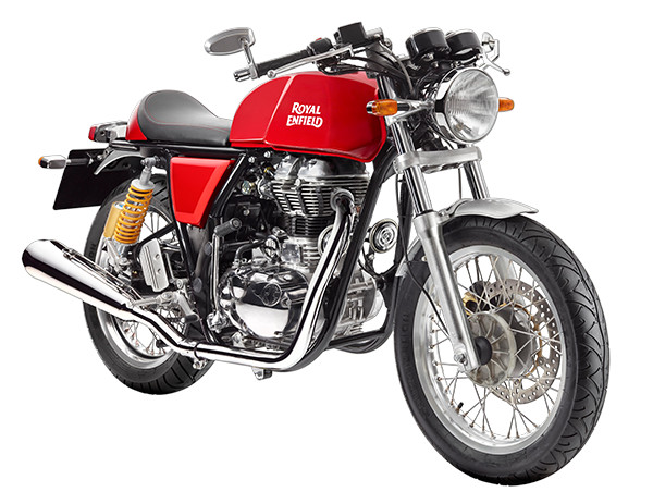moto royal enfield continental GT Rouge
